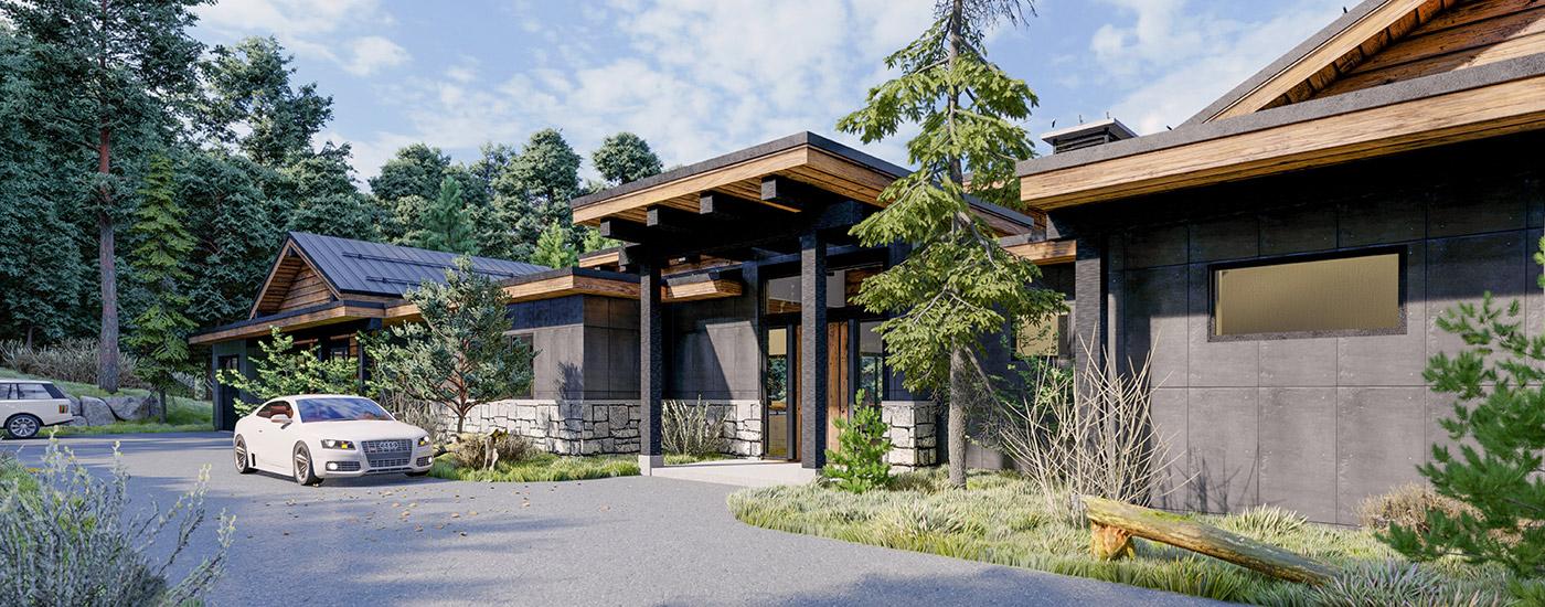 Evergreen Custom Home Entry
