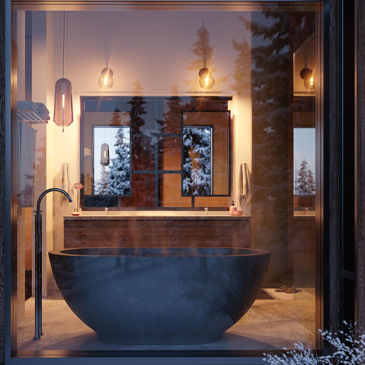 Design Build Bathroom Rendering
