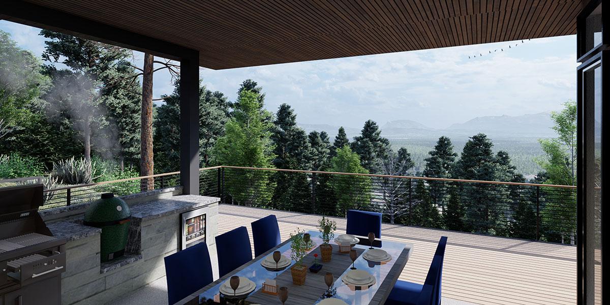 Custom Home Outdoor Dining